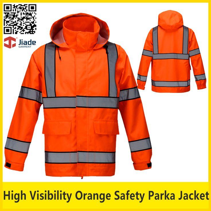 Jiade High quality reflective safety workwear jacket work orange jacket safety clothing free shipping