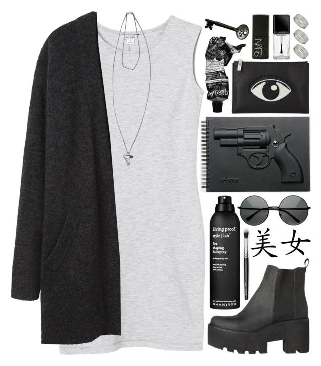 """DAY WEAR - GRUNGE GUN"" by pretty-basic ❤ liked on Polyvore featuring Monki, Acne Studios, Revolver, Kenzo, Living Proof, Dorothy Perkins, Givenchy, Aesop, Illamasqua and NARS Cosmetics"
