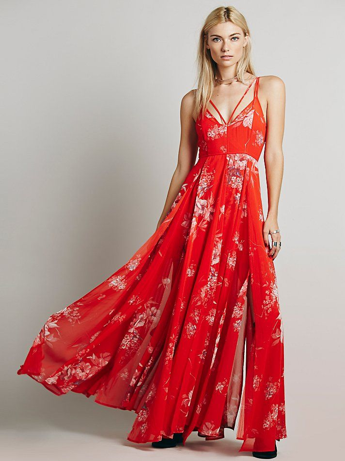 //white flower STYL pick // Free People Winter Garden Maxi at Free People Clothing Boutique