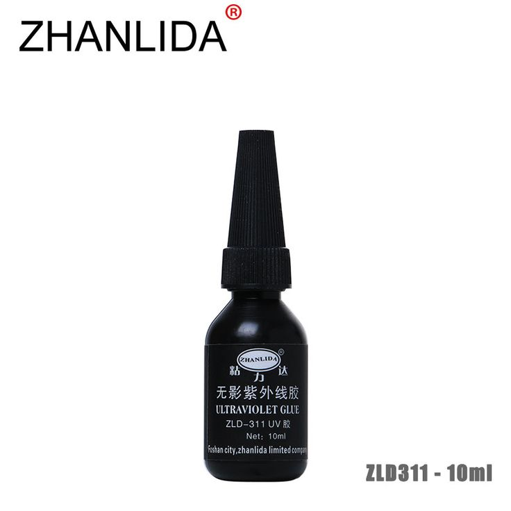 ZHANLIDA 311 10ML Ultraviolet UV Glue Transparent Crystal Crafts Glass Shadowless Glue Repair High Strength Adhesive #Affiliate