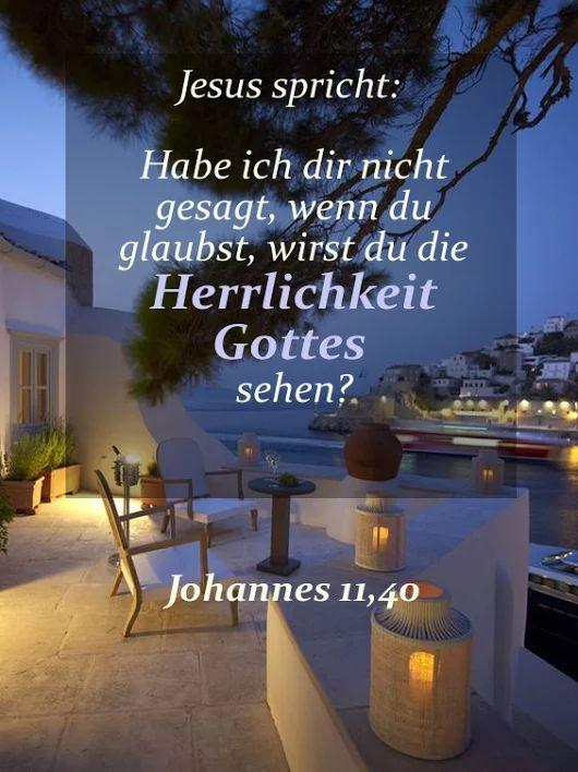 Jesus spricht zu Marta: Habe ich dir nicht gesagt, wenn du glaubst, wirst du ...