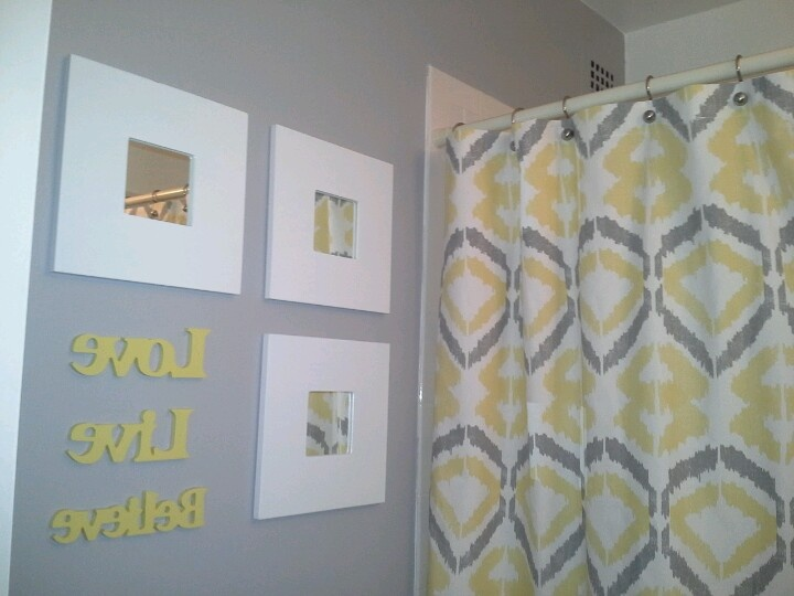 Yellow gray bathroom inspiration yellow gray for Yellow and gray bathroom sets
