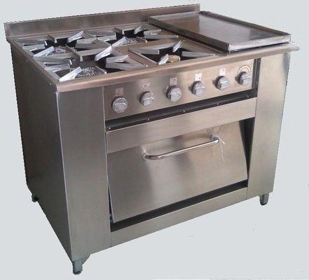 Cocina Industrial 4 Platos, Plancha Churrasquera y Horno | RAC-Chile
