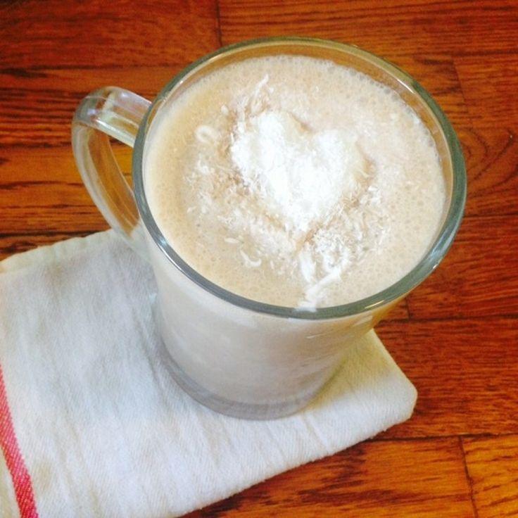 Smoothie s kávou a kokosem