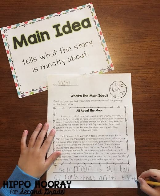 writing activities for main idea and supporting details