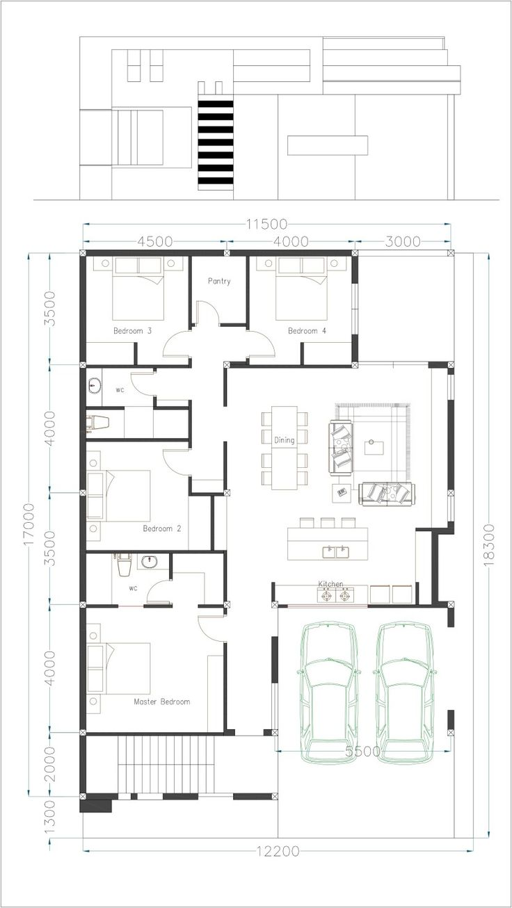 One Story House Plan 40x60 Sketchup Home Design - SamPhoas ...