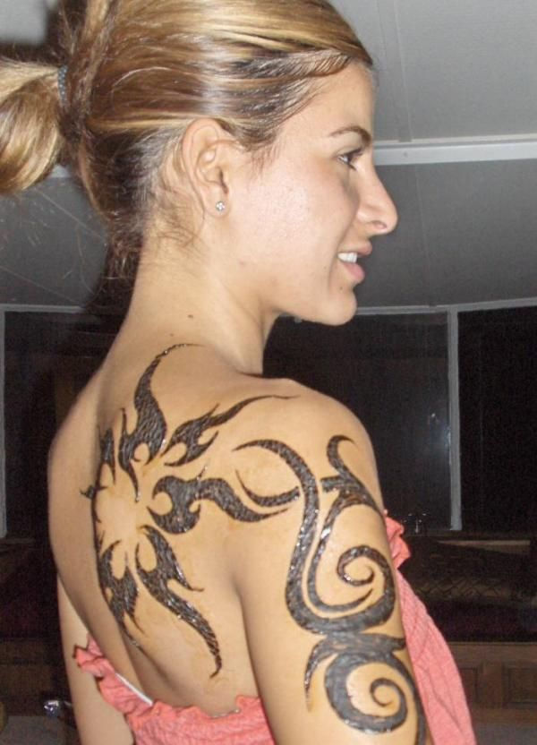 Elegant tribal tattoo design for girls  - 70  Awesome Tribal Tattoo Designs  <3 <3