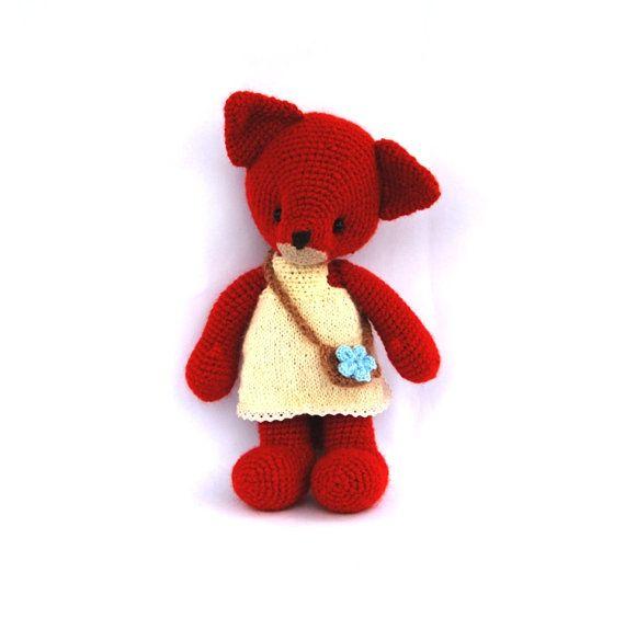 jouet de peluche renard amigurumi rouge animal, bois jouet bonneterie pour enfants, poupée de peluche, leurs propriétés en plein air, voyage, aller à l'extérieur, monter mountins sur Etsy, $52.47 CAD