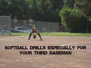 third base softball drills