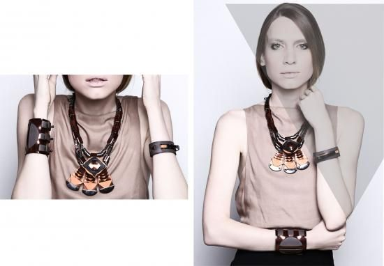 BRANTÊ SPRING SUMMER 2014 - Necklace with geometrical pendants.Tomorrow's fashion today. www.Wowcracy.com