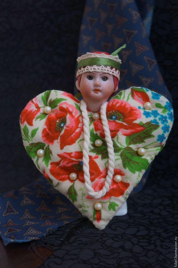 Buy Mixed Media Art Doll - Russian beauty - Wool Heart Textile Art , Pavlo
