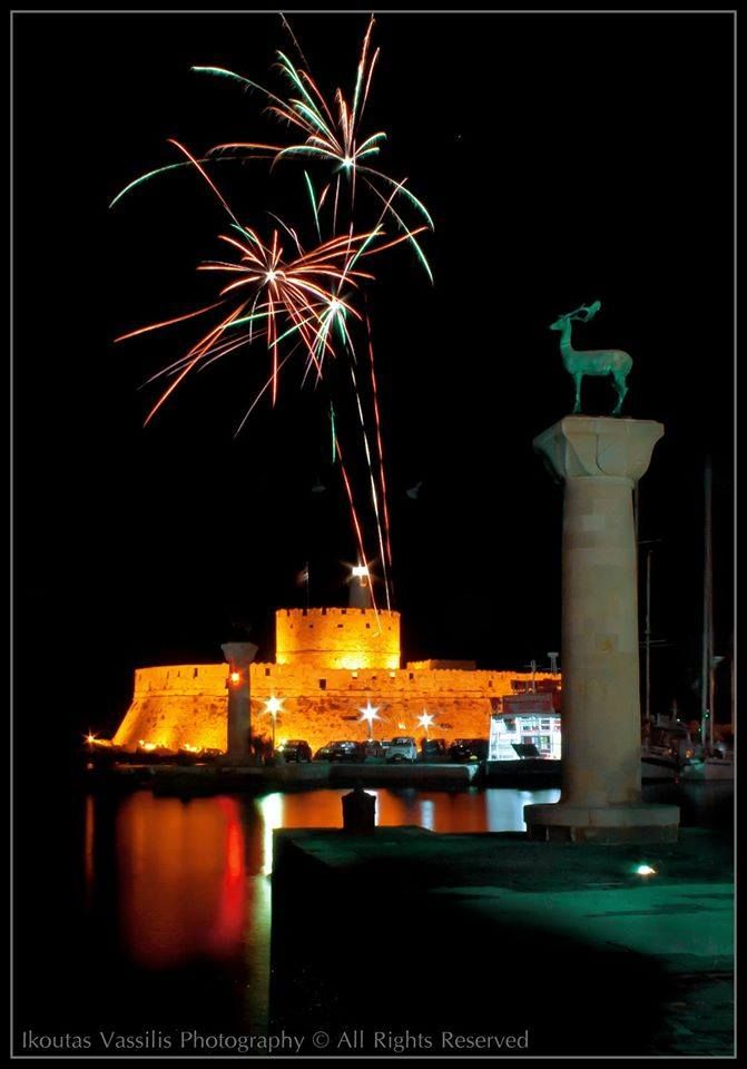 2014 is gone and we Welcome the 2015 with the Best & Most Positive Thoughts & Wishes, to You & Your Loved Ones!  Happy New Year Everyone!  #nye #Rhodes #Rodos #Greece