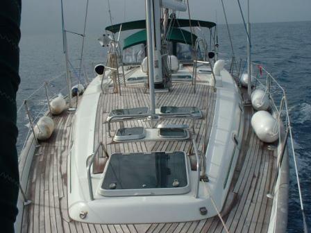 deck detail of Cochiel SailYacht, great beneteau 50, 15 mt long, extrememly comfortable  to charter it mycochielATgmail.com  check www.facebook.com/cochielsailyacht