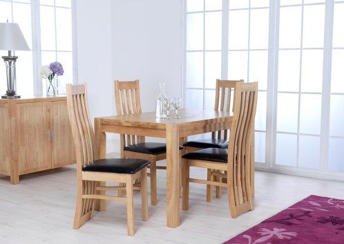 eve, dining table, 4 chairs,4 chairs,dining set, oak top, 4 chairs set, extending table, 4 chairs, compact dining table, compact dining set, extending dining set