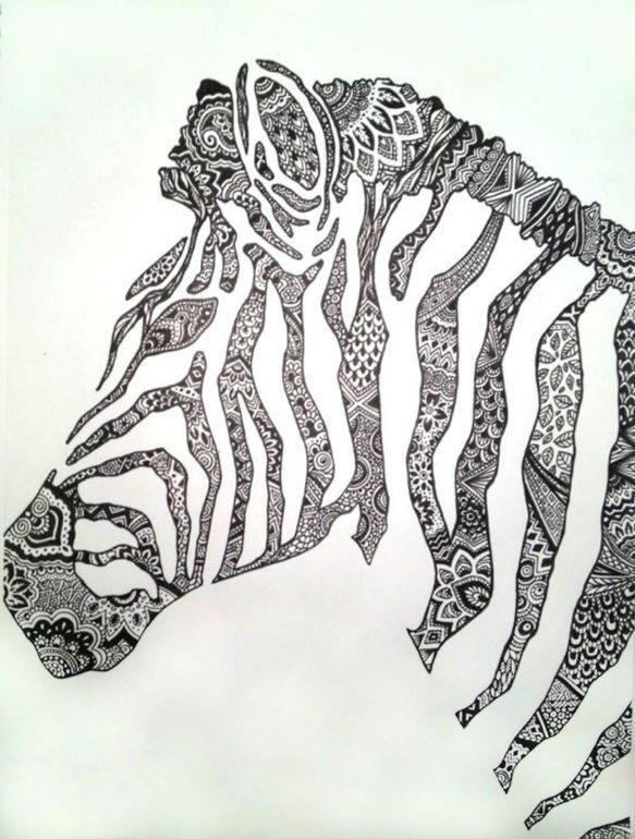 Saatchi Online Artist: Cady Bogart; Pen and Ink, Drawing Zebra