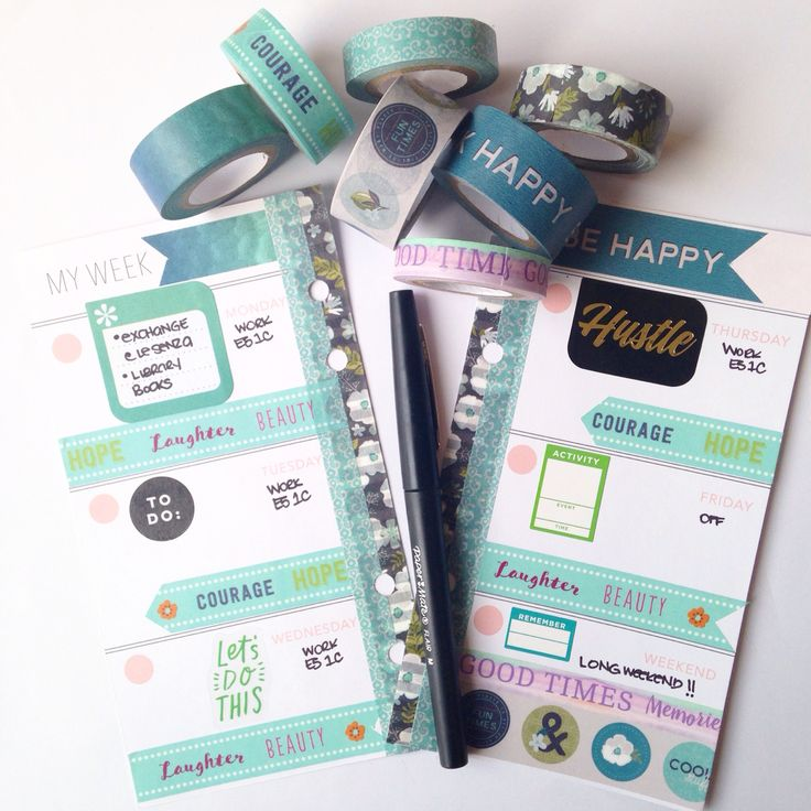 Heidiswapp memory planner and new washitape from Michael's.