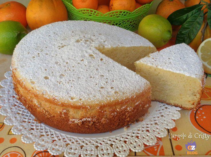 !Questa torta sofficissima agli agrumi e' una vera delizia per occhi e palato ha un profumo e un sapore davvero unico , ottima per la merenda !