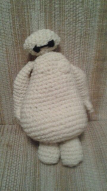 Crochet baymax. No link to pattern, just the photo. But I love the idea of not stuffing Baymax. Low battery. :)
