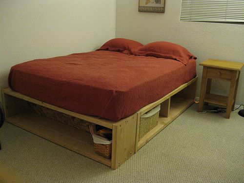 best 25 diy storage bed ideas on pinterest bed frame with storage diy platform bed and bed. Black Bedroom Furniture Sets. Home Design Ideas