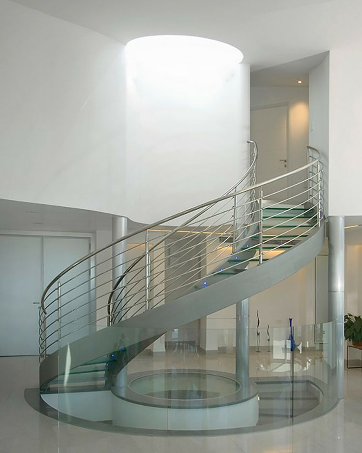 40 Trending Modern Staircase Design Ideas And Stair Handrails: I Love The Small Lights On The