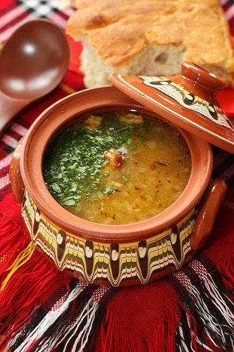 Bulgarian Steak and Rice Soup