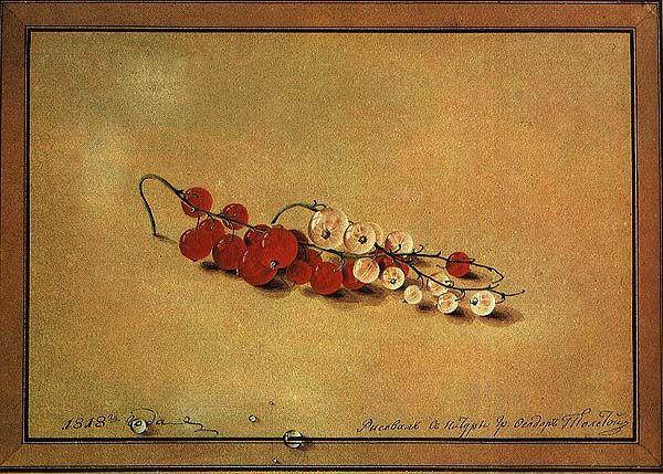 Федор Петрович Толстой Ягоды красной и белой смородины 1818