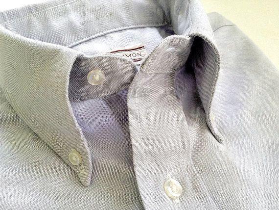 Vintage Men's Stuart Simon Grey Oxford Cloth by TheIvyLeagueShop, $35.00