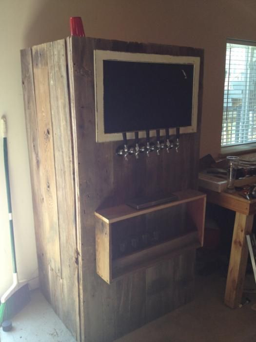Man Cave Kegerator : Kegerator wrapped in barn wood homebrew pinterest