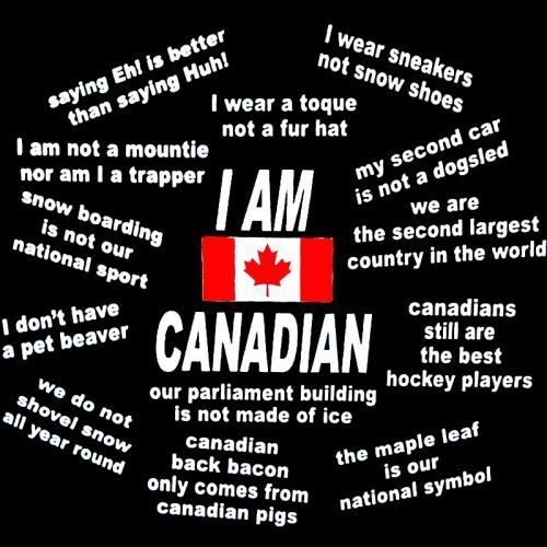 Canadian Humor: I Am Canadian.    Some people think we have snow year 'round. I know, eh?!  :)