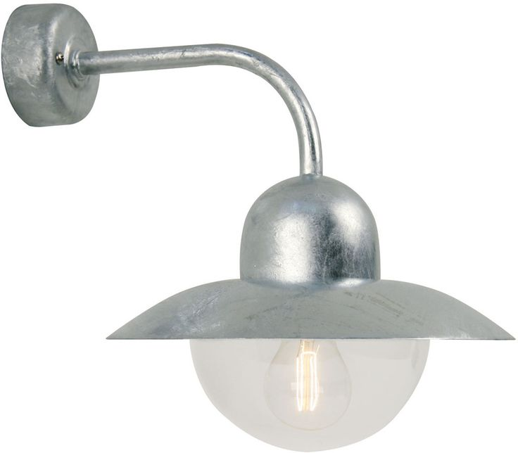 REA! Nordlux Iris Vägglampa Galvaniserat stål 60W E27 IP54 - HemOchBastu.se