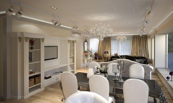 Центральный выставочный зал - Дизайн проект интерьера магазина классической мебели. Архитектор-дизайнер Инна Войтенко.