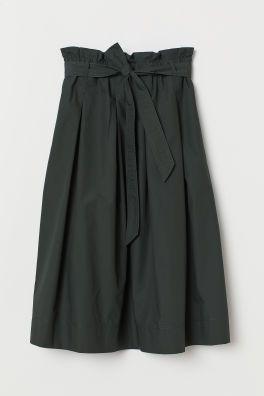 644ddf8b3ec1c3 H&M Seersucker Skirt - Black in 2019   Clothes ~ Skirts   Seersucker ...