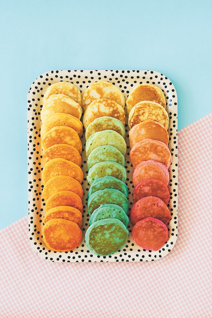 Rainbow Pikelets featured in Lunch Lady Issue Four. Lunch Lady Magazine available at http://shop.hellolunchlady.com.au/