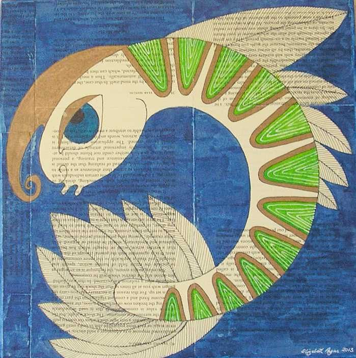 Sealife wall art, sealife art, sealife mixed media, crustacean wall art, crustacean art, crustacean mixed media, prawn wall art, prawn art by ElizabethAngusArt on Etsy