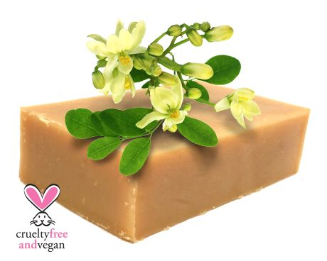 MORINGA OIL MILD SOAP BAR Our gentle, most luxurious soap we have, made using our exotic Moringa oil. This mild soap is full of nourishing Vitamins, anti-oxidents and emollients, leaving your skin cleansed, soft and supple.