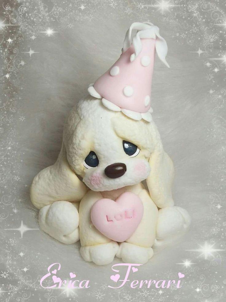 Perrito en porcelana fría