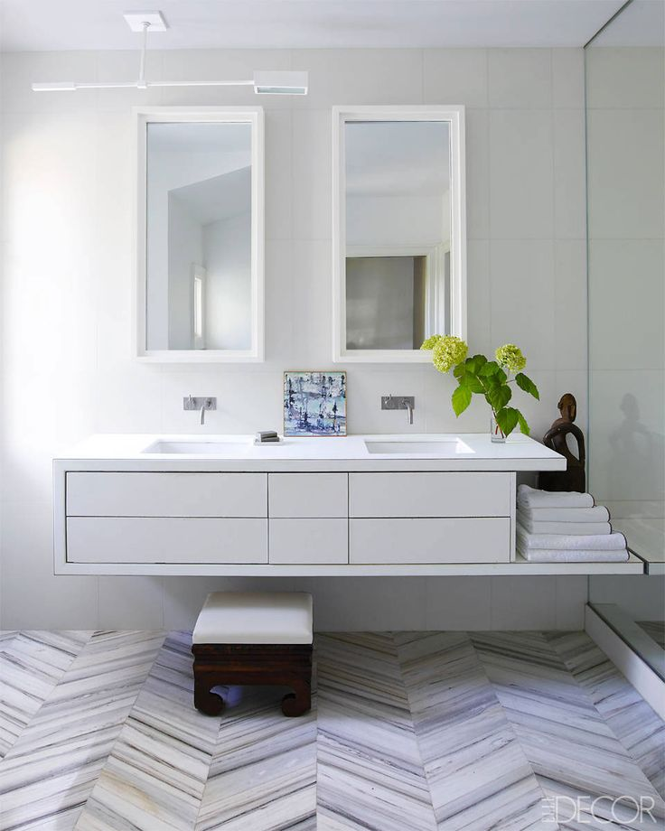 50 bathroom lighting ideas for every design style for All white bathrooms ideas