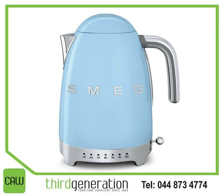 Make those much needed cups of coffee in style with this #Smeg kettle from #ThirdGenerationCAW. Visit us in-store or contact us on 044 873 4774.