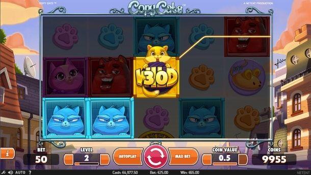 Copy Cats в казино Вулкан на деньги - Если вам нравятся яркие и весёлые игры, обязательно оцените Copy Cats. Начните играть в неё в казино Вулкан, если хотите получить реальные денежные выплаты и заодно поднять себе настроение.  - http://vulkanmobile.net/copy-cats