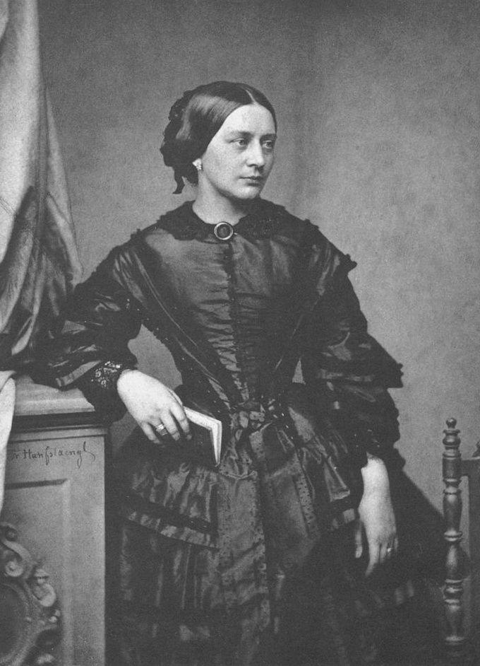 "cimmerianweathers: "" Clara Schumann, photographed by Franz Hanfstaengl, 1850. """