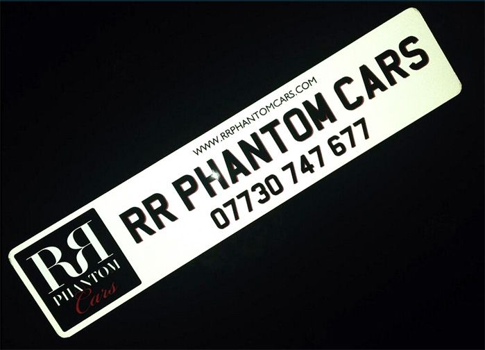 "Here are show plates that we made for RR Phantom Cars. #showplates #platesforcars #signplates  ""we received our plates, they look great. Many thanks"" - RR Phantom Cars"