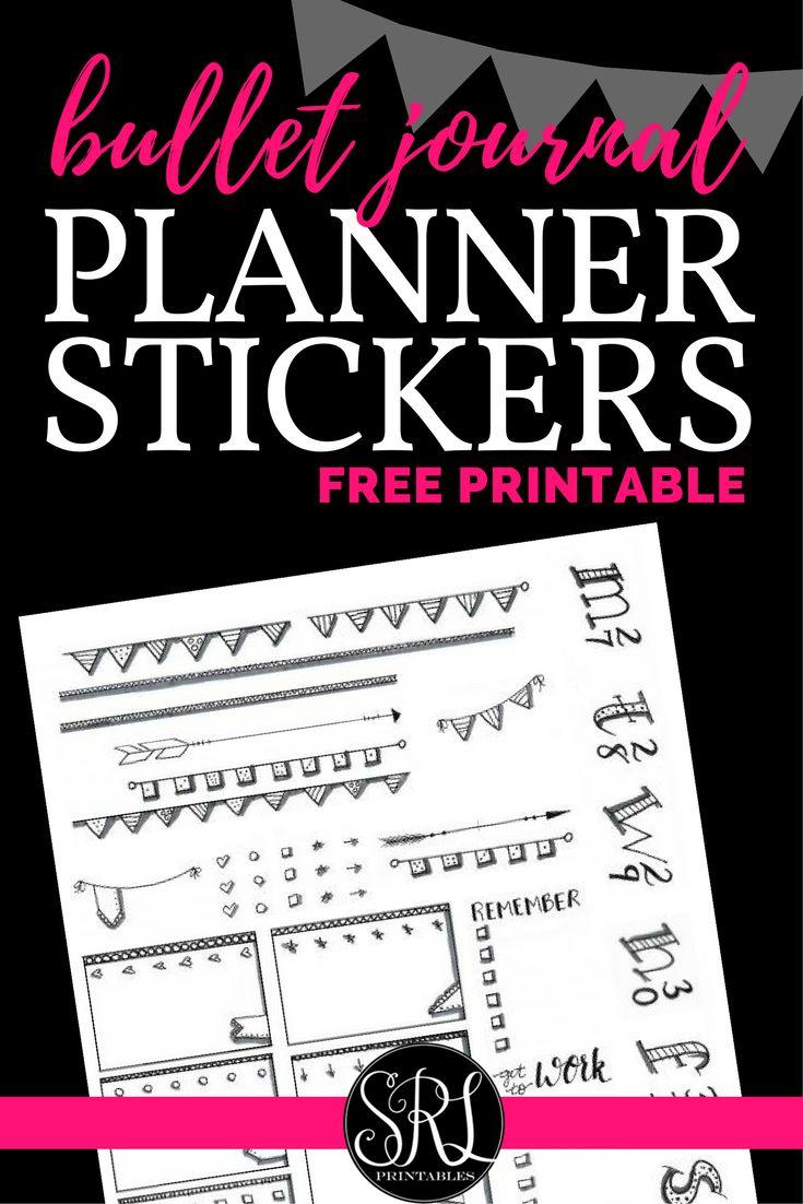 Free Printable Bullet Journal Planner Stickers