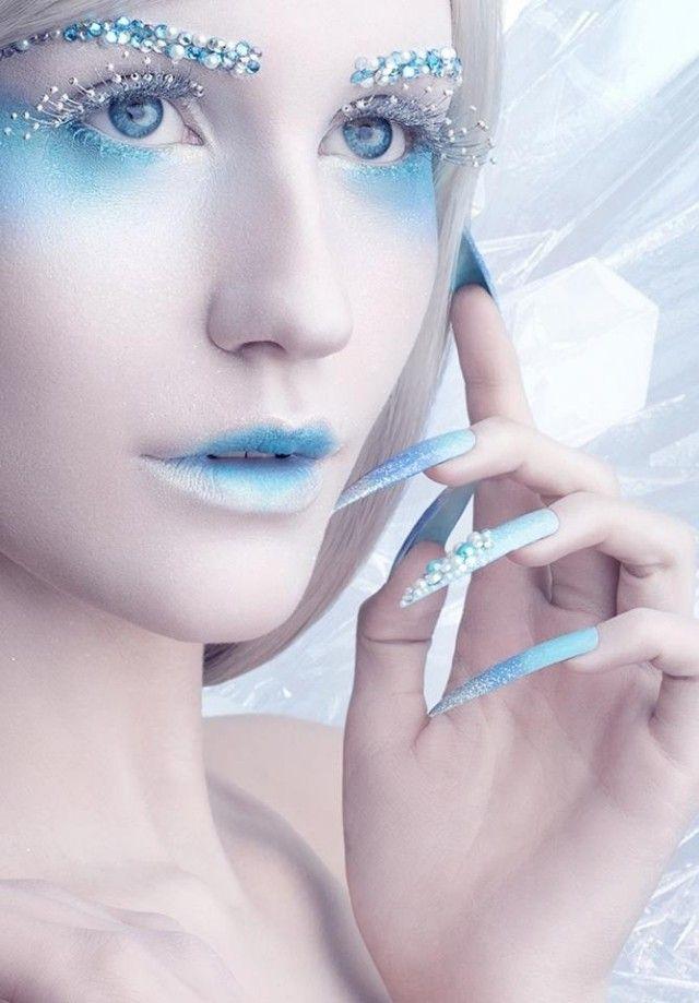 Halloween Make-Up und Zubehör-Die Eiskönigin-spitze Kunstnägel