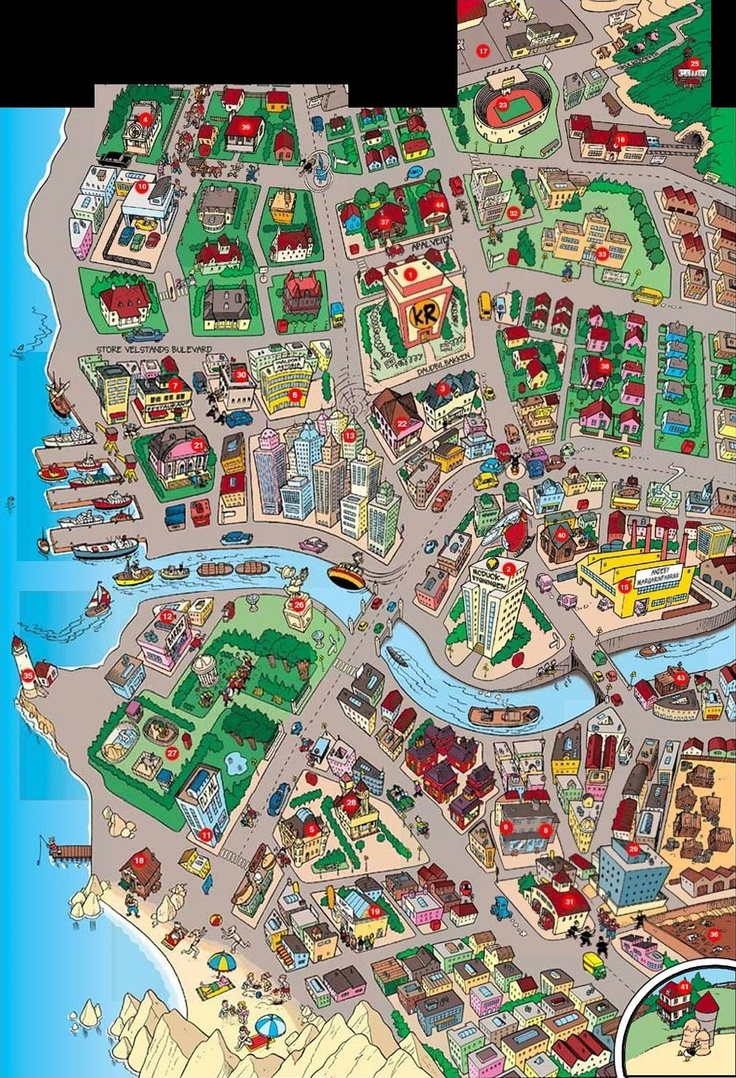 this sattelite image of Duckburg, really does show just ...