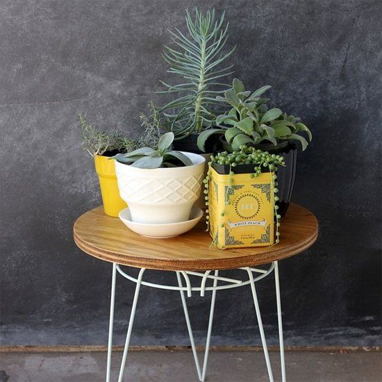 Plant Stand to End Table DIY. (via Smile and Wave)