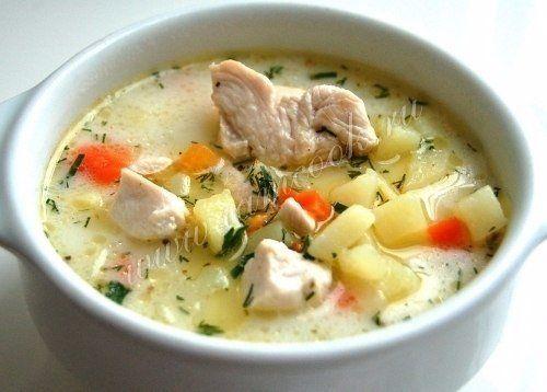 Сырный суп с курицей / Женское счастье!