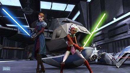 Star Wars - The Clone Wars - Anakin and Ashoka - Walt Disney Storybooks - World-Wide-Art.com - $225.00 #StarWars #Lucas
