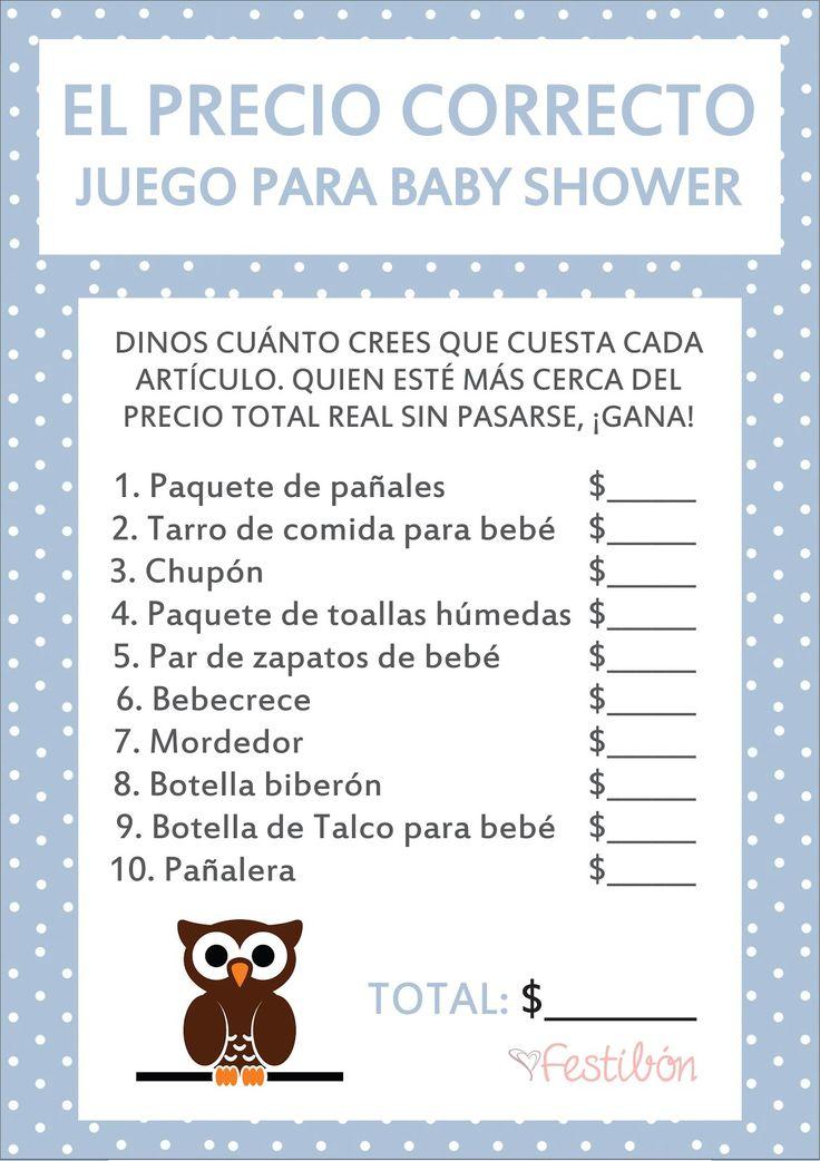 Resultado de imagen para juegos para baby shower mixto
