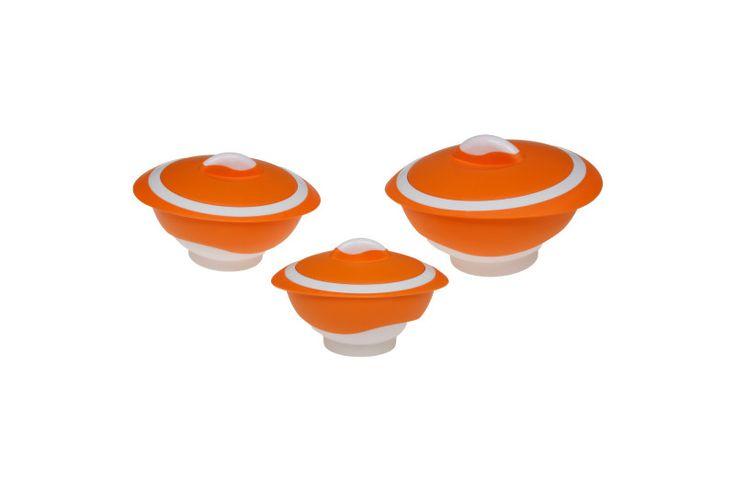 Θερμός φαγητού Pinnacle matt Orange Σετ (500ml, 1000ml, 2000ml)