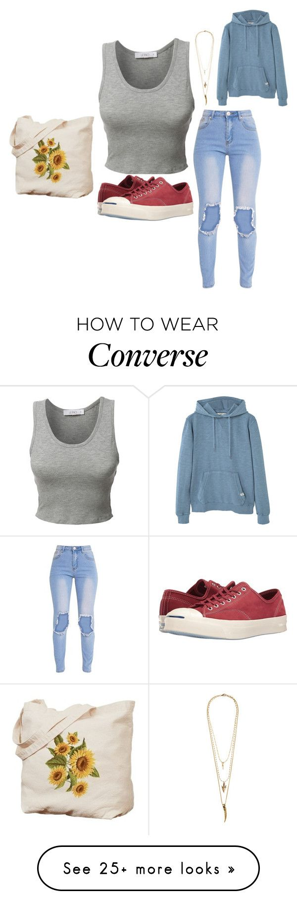 """""""Eva"""" by bambi2014 on Polyvore featuring LE3NO, Converse, Lacey Ryan and MANGO"""